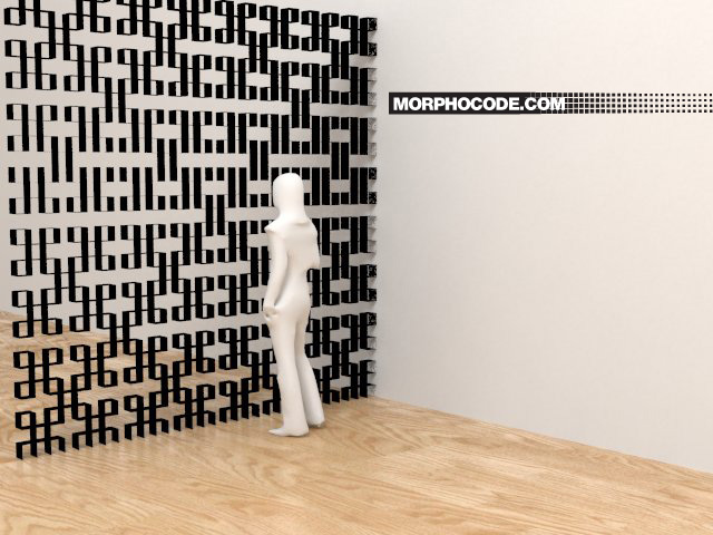 Pattern Wall: L-Systems + Rabbit by Morphocode