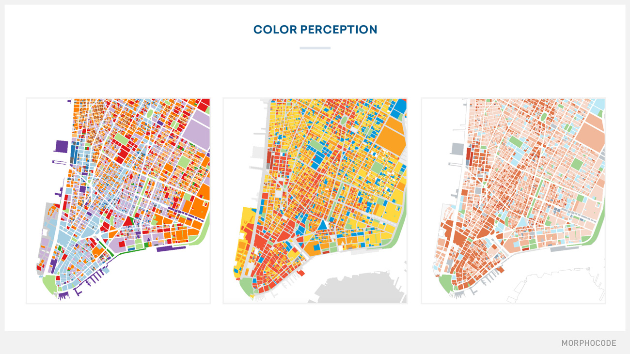 Mapping Urban Data Course Preview MORPHOCODE - Map color code